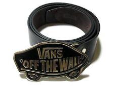 VANS Buckle leather belt Skateboard Skater SK8 BMX Black