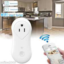 Wireless Remote Control Timer Switch WiFi Smart Power Socket Outlet AC US Plug