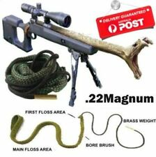 Bore Cleaning Snake .22 Magnum  bore brush hunting kit gun rifle pistol Cal