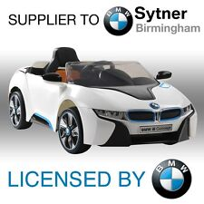 NEW LICENSED BMW I8 RIDE ON TOY CAR 12V TWIN MOTOR +PARENTAL REMOTE CONTROL KIDS