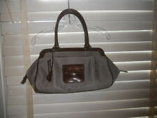 Auth Tod's Beige Canvas & Lizard Kate East Media Giorno Hobo Shoulder Bag