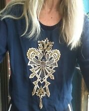 "Sass & Bide ""Flower Bomb"" Embellished Top Sz XS (6-10)"