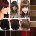 UK Deluxe One Piece Bangs Clip in Fringe Hair Extensions straight brown blonde