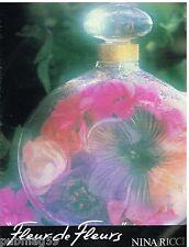 Publicité Advertising 1988 Parfum Fleur de fleurs Nina Ricci par David Hamilton