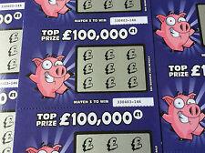 3 bleu foncé cochon faux blague loterie gratter