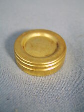 Flat Wick Oil Lamp style Replacement Brass Screw on Oil Fill Cap