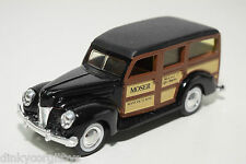 ERTL FORD WOODY STATION CAR MOSER BLACK MINT CONDITION