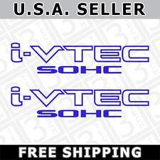 2x Blue i-VTEC SOHC Vinyl Decal Stickers Emblem Honda Acura ivtec