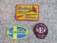NEW Mossberg Weatherby New England Firearms Gun Shooting Hunting patches