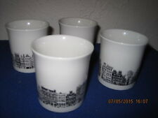 4 PC VILLEROY & BOCH AMSTERDAM CUPS CIGARETTE HOLDERS HERENGRACHT PRINSENGRACHT