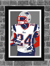 New England Patriots Darrelle Revis Portrait Sports Print Art 11x17