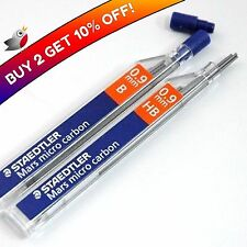 12 STAEDTLER MARS MICRO 0.9mm B MECHANICAL PENCIL REFILL LEADS - Buy 2 get 10%