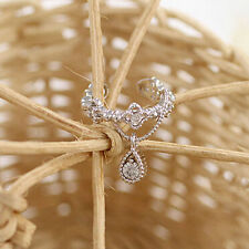 1 Pc Fashion Women Ear Cuff Wrap Rhinestone Crystal Clip On Earring Jewelry