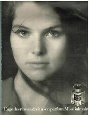 Publicité Advertising 1973 Le Parfum Miss Balmain