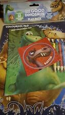 dinosaur colouring play pack with pencils and stickers