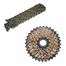 Shimano Altus 9 Speed Cassette 11/34 & HG53 Chain and Cassette Combo