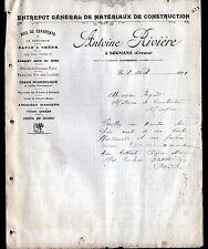 """SOUMANS (23) Entrepot de MATERIAUX de CONSTRUCTION """"Antoine RIVIERE"""" en 1911"""