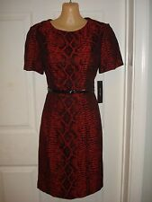 Ivy&Blu/maggy boutique Wear to Work Sheath Dress With Belt Sz 14