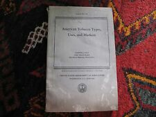 American Tobacco Types Uses Markets Industry Agriculture Folding Illus. Map 1942