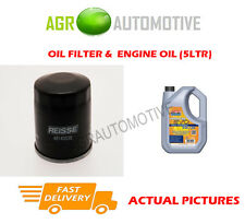 PETROL OIL FILTER + LL 5W30 ENGINE OIL FOR RENAULT MEGANE CC 2.0 140BHP 2010-