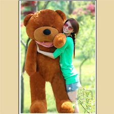 Cute Stuffed Giant Big Plush Deep brown Squinting Teddy Bear Huge Doll Gift 80cm