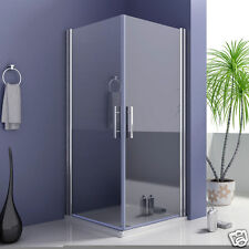 Aica 800x900mm Frameless shower enclosure 180° swing double pivot door screen