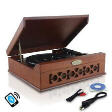 Pyle PVNTT6UMRBT Home Audio Vintag Classic Bluetooth Turntable Record Playe