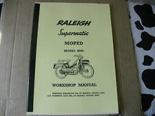 Raleigh Moped/ RM5 / Supermatic /New Workshop Manual /With Exploded Diagrams