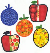 ~ FUN NEW PATTERN ~ FRESH FRUIT HOT PADS  & MITTS FOR THE KITCHEN ~