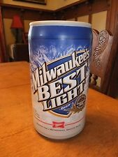 Milwaukee's Best Novelty Foam Promotional Beer Can Bachelor Bar Man Cave Display