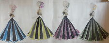 GRAND DESSIN AQUARELLE COSTUMES THEATRE MODE FEMME ART DECO 1930 DRAWING b