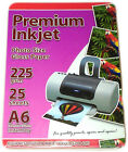 Premium inkjet 6 x 4 225 GSM A6 PHOTO GLOSS PAPER 100 sheets