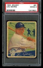 1934 Goudey LOU GEHRIG Yankees #61 HOF PSA 2