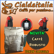160 capsule Caffè Gusto ROBUSTO Cialdeitalia - comp. Nescafè Dolce Gusto