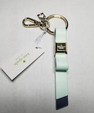 NWT Kate Spade Bow Ribbon Key Fob Chain Keychain Ocean/Navy Blue