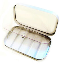 5 Panel Silver Aluminum Streamer Salmon Saltwater Fly Tackle Lure Fishing Box