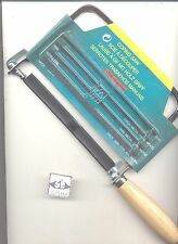 Coping Saw & 5 Blades craft hobby tool cuts soft wood & metal #55676