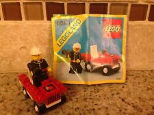LEGO Fire Chief's Car (6612) VINTAGE!! 100% Complete!! WITH DIRECTIONS