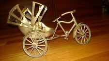 Vintage Brass Cycle RICKSHAW Chinese Japanese Oriental Velotaxi Tricycle Pedicab