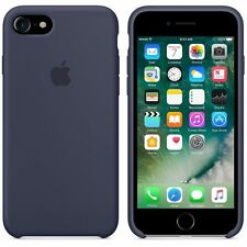 "NEW - Genuine 2016 Soft Silicone Case for Apple iPhone 7 4.7"" in Midnight Blue"