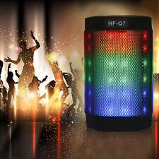Stereo Wireless Bluetooth PULSE Mini Speaker Colorful LED Light w/ FM Handsfree