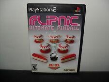 -PS2 GAME - FLIPNIC ULTIMATE PINBALL - COMPLETE - PLAYSTATION 2 - FREE SHIPPING