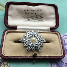 RARE Vintage 40s Charles Horner STAYBRITE STAR Brooch Pin Bridal Party. GIFT BOX
