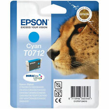 Genuine Epson T0712 TO712 Cyan / Blue Ink Cartridge for DX4000 DX4050 NEW SEALED