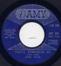 "EARL KING - ""YOU'LL REMEMBER ME"" b/w ""SHE'S MY DRIVIN' WHEEL"" on AMY (VG) SOUL"