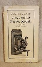 Original Manual for No. 1 and 1A Pocket Kodaks