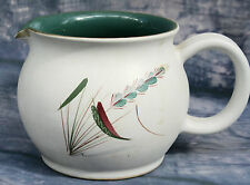 Denby Greenwheat Milk Jug  - 1960s design by A.College - Signed - 1  pint size.