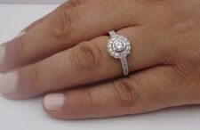 925 STERLING SILVER LADIES DESIGNER RING W/ 2 CTS DIAMOND/SIZE 5,6,7,8,9