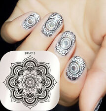 BORN PRETTY Nail Art Stamping Plates Floral Design Image Stamp Template BP-X15
