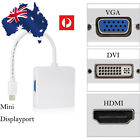 Thunderbolt Mini DP Display port to HDMI DVI VGA Adapter Cable for MacBook iMac